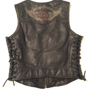 Harley Davidson women's leather vest small